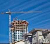 Novo site da construção — Fotografia Stock