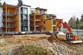 Construction of new apartment building. — Stock Photo
