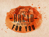 Bread poster kraft — Stock Vector