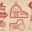 Farm vintage red — Stock Vector #54148351