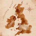 Map United kingdom and Scotland retro — Stock Vector #54765767