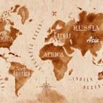 World map map retro — Stock Vector #54766075