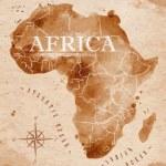 Map Africa retro — Stock Vector #54934747
