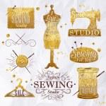 шитье золота символа — Cтоковый вектор #59640409