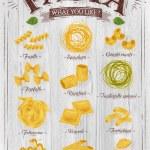Постер, плакат: Poster pasta wood