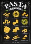 Poster pasta chalk — Stock Vector