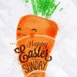 Happy easter carrot poster — Stock Vector #64326215