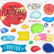 Set of plasticine sings — Stock Vector #77903542