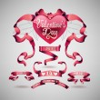 Vector set of valentines day banner — Stock Vector #62862949