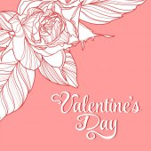 Valentines day design with rose — Vetorial Stock