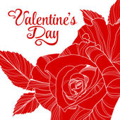 Valentines day design with rose — Vettoriale Stock