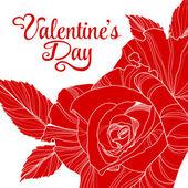 дизайн Дня святого Валентина с повысился — Cтоковый вектор