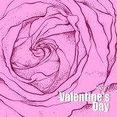 Gül Sevgililer günü tasarım — Stok Vektör