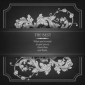 Schöne elegante Hintergrund mit Spitzen floral Ornament und Platz für Text. Kuchengabeln-Elementen verzierte Hintergrund. Vektor-illustration. — Stockvektor