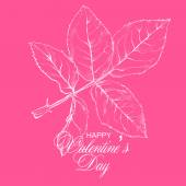 Valentines day design with rose — Stock Vector