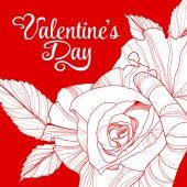 Valentines day design with rose — Διανυσματικό Αρχείο