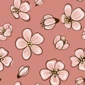 Sakura seamless background — Stock Vector