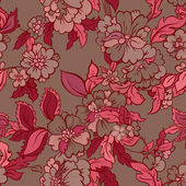 Decorative floral boho seamless pattern — ストックベクタ