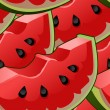 Seamless background with watermelon slices — Stock Vector #70406773