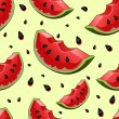 Seamless background with watermelon slices — Stock Vector #70406785