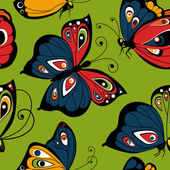 Flying butterfly seamless pattern — Stok Vektör