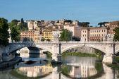 St. Angelo Bridge in Rome, Italy — Stock Photo