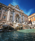 Trevi Fountain, Rome - Italy. — Stock Photo