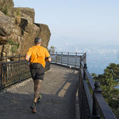 Morning run in Hong Kong. — Stock Photo