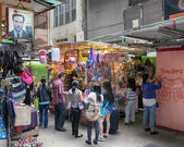 Market Stall inLi Yuen Street  Market. Li Yuen Street  Market is popular tourist destination in Hong Kong. — Stock Photo