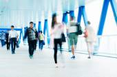 Motion blured commuters in Hong Kong — Stock Photo