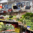 Bowrington Road Market in Hong Kong. Vegetable stall in Hong Kong,  Bowrington Road, Wanchai. — Stock Photo #68214577