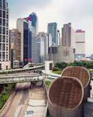 Elevated view of the central business district of Hong Kong. — Stock Photo
