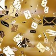Golden sms or e-mail — Stock Photo #53498369
