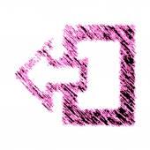 Exit icon — Stock Photo