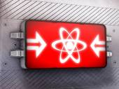 Atom-symbol — Stockfoto