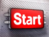 """""""Start"""" — Stock Photo"""