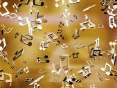 Golden music notes — Stock Photo
