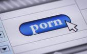 """Button """"porn"""" — Stock Photo"""