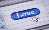 "Button ""Love"" — Stock Photo"
