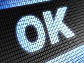 """""""Ok"""" icon — Stock Photo"""
