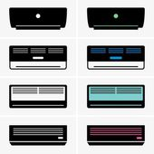 Air conditioners — Cтоковый вектор