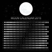 Moon calendar 2015 — Stock Vector