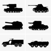 Tanks — Stock Vector