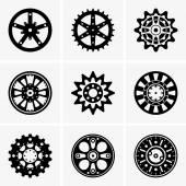 Sprocket wheels — Stock Vector