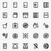 Freezer icons — Stock Vector