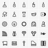 Musical Instruments Icons — Stockvector