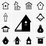 Birdhouses — Stock Vector #71838261
