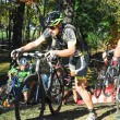 Cyclists competing in cyclocross race — Stock Photo #56682345