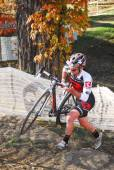 Cyclist competes in Cyclocross Race — Foto de Stock