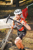 Cyclist competes in Cyclocross Race — ストック写真